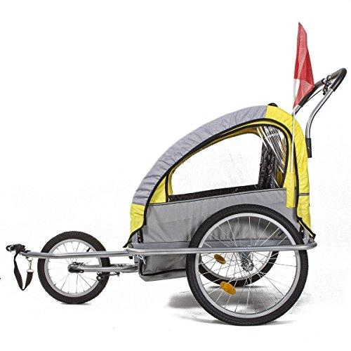 Fitfiu BI-TR-Y - Remolque de bicicleta, color amarillo / gris 107.99€