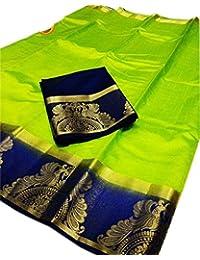 Nirja Fab Women Raw Silk Banarasi Saree ( LPCOCK)