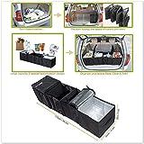 Autoark AK-U18,contenitore portaoggetti e termico nero, pieghevole, multi vano, in tessuto, per bagagliaio auto, camion, SUV