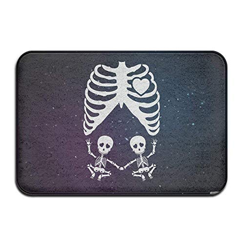 Kinhevao Schwangere Skeleton Xray Kostüm Fußmatten Outdoor MatsBath - X Ray Kostüm