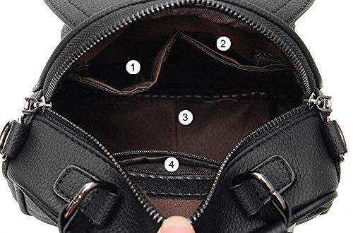 Estwell Damen Handtasche Umhängetasche Beiläufige Kleine Schultertasche Kuriertasche Frauen Rucksack Reise Daypack Grün