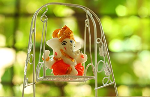 Paradigm Originals Ganpati on Jhula Ganesha Small Idol Murti Sculpture 514aWOZeOEL