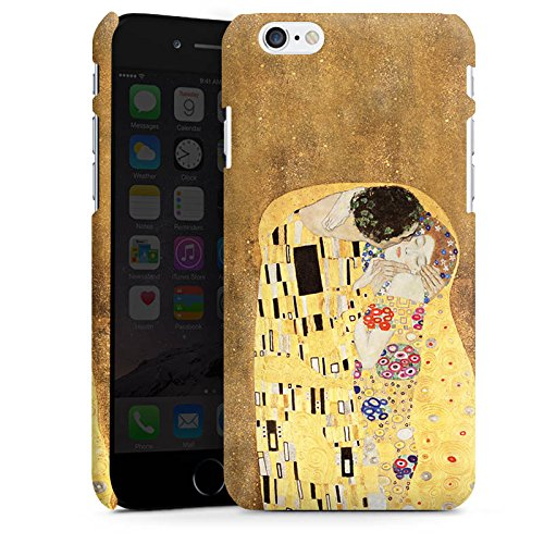 Apple iPhone 6s Plus Silikon Hülle Case Schutzhülle Klimt The Kiss Kunst Premium Case matt