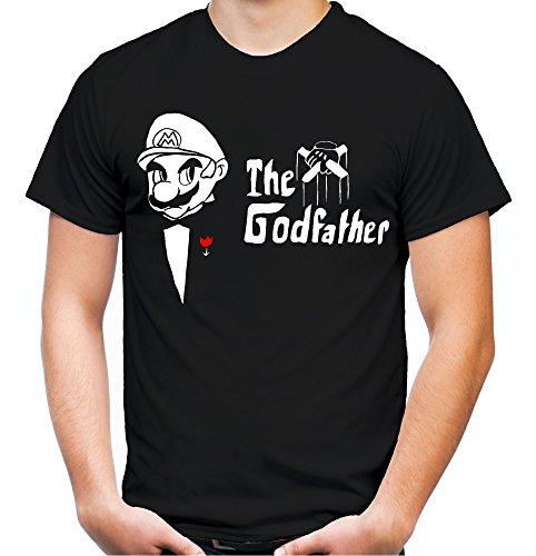 Mario Godfather Männer und Herren T-Shirt | Mafia Kult Retro der Pate Geschenk (XXXL, (Super Mario Pilz Kostüm)