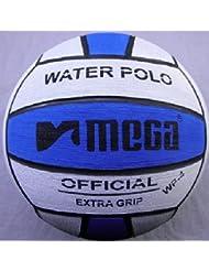 Mega agua bola de polo, blanco-azul, tamaño 4, junior y las mujeres tamaño