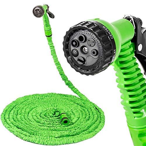 Ducomi® Magic Hose Tubo d'irrigazione in Lattice espandibile per Giardino con Pistola a Getto variabile (22,5 m)
