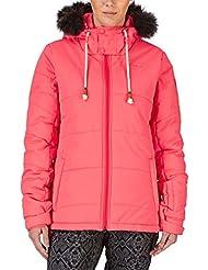 Protest cardioversión nieve chaqueta - Fluor rosa Fluor Pink Talla:10