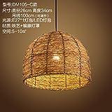 (Furonghuang) Sepia Industrial Wind Rustikale Thema Bar Kreative Restaurant Internet Cafe Shops Milch Tee Lounge Deck Kronleuchtern, Dm 105-C) Lichtquelle (Kein Licht)