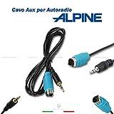 CAVO AUX INGRESSO AUDIO AUTORADIO ALPINE KCE-236B PER ASCOLTARE MUSICA DA LETTORI MP3 IPOD SMARTPHONE CON JACK DA 3,5MM