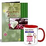 #6: Happy Birthday Brother Mug With Card Hamper