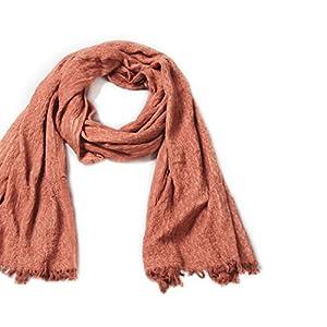 Natural Feelings weiche warme Normallack 100% Baumwolle Franse Frauen Schalverpackungen