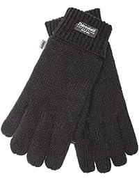EEM Damen Strick Handschuhe JETTE mit Thinsulate Thermofutter aus Polyester, 100% Wolle oder 100% Baumwolle je nach Farbe