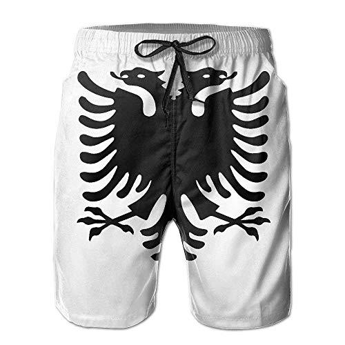 khgkhgfkgfk Albanian Eagle Men's Board Shorts Beach Swim Shorts Beachwear Hawaiian Trunks X-Large Cotton Knit Romper