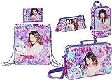 Disney Violetta Schultasche, Turnbeutel, Schuhtasche, Federmäppchen und Geldbörse, lila