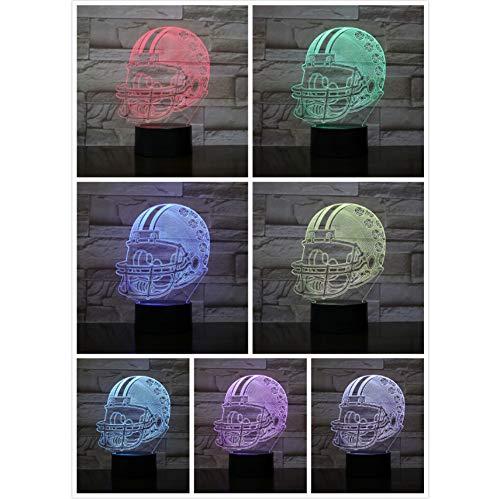 Ohio State Buckeyes Football Helm 3D LED 7 Farbe Nachtlicht USB Lampara Kinder Kinder Geschenk Farbwechsel Tischlampe Schlafzimmer - Ohio State Buckeyes Led