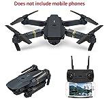 YMXLJJ RC Drone avec Caméra Quadcopter WiFi FPV avec 2MP Caméra Grand Angle Pliable Hauteur Hold/3D Flip/APP Hélicoptère De Poche De Contrôle Noir