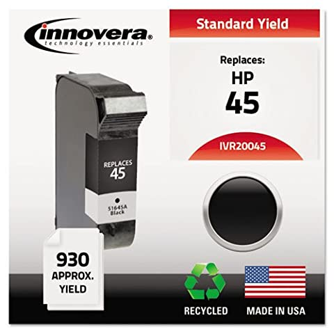 20045 Compatible, Remanufactured, 51645A (45) Ink, 930 Page-Yield, Black, Sold as 1 Each
