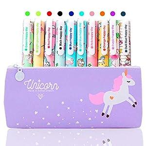 10 Lápices Bolígrafos de Unicornio