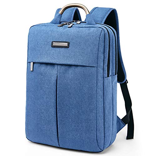 Preisvergleich Produktbild Sakuldes Herrenrucksack Reiserucksack Wasserdichte Laptop-Tasche für 15,6 Zoll (Color : Blue)