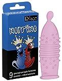 Rilaco Noprino - 9 pinke Kondome mit Rippen und Noppen für den extra Kick