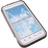 Transparent black Silicon Case Handy Schutz Hülle Tasche für HTC Incredible S