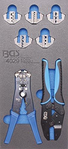 BGS 4029 | Werkstattwageneinlage 1/3: Crimp- und Abisolierzangen | 12-tlg.