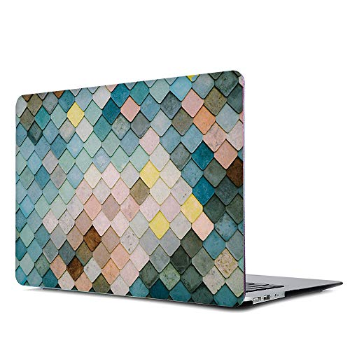 Onkuey Painting Pattern Rubberized Kunststoff Hard Case Shell Cover für alte MacBook Pro 13 Zoll (A1278, mit CD-ROM), Release Anfang 2012-2008, Diamond Check - Check Hard Case Cover