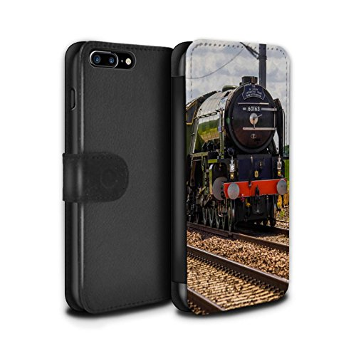 Stuff4 Coque/Etui/Housse Cuir PU Case/Cover pour Apple iPhone 8 Plus / Flying Scotsman Design / Locomotive Vapeur Collection Tornado