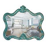 ZI LING SHO- Europäischer Alien-Badezimmer-Spiegel Retro- Wand-hängende, (Farbe : Retro Blue)