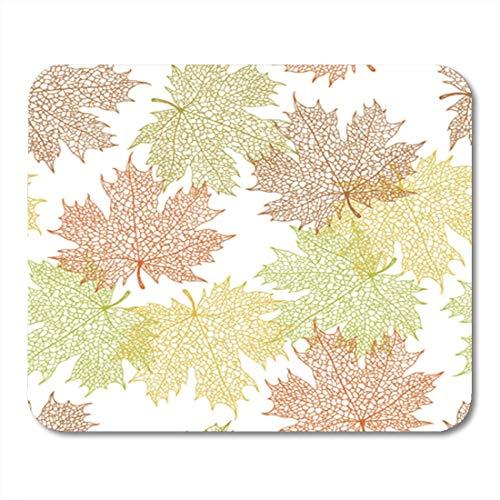 AOCCK Gaming Mauspads, Gaming Mouse Pad Fall Maple Leaf Background Theme Autumn Season Pattern Vector Repeat 11.8