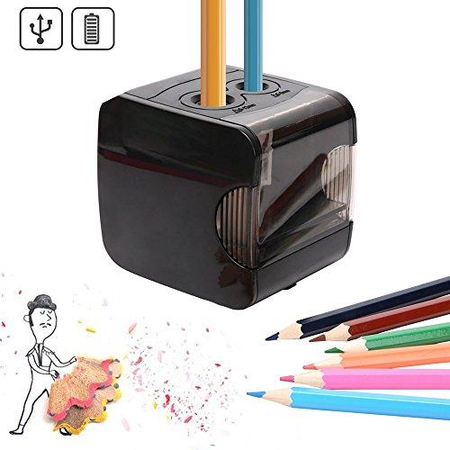 Elektrischer Anspitzer,automatischer Bleistiftspitzer Elektrisch mit,Batterie und USB Betrieben,2 Löchern und Automatischer Funktion,Perfekt für Den Gebrauch zu Hause oder Büro Und schule