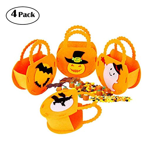 KFYOUXIN Party Requisiten Bonbontüten Süßigkeiten Party Taschen Kürbis-Tasche Kinder Halloween Tasche Halloween-partytaschen Party (Halloween Viele Süßigkeiten Zu)
