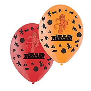 Fireman Sam Latex Balloons 6 Pack