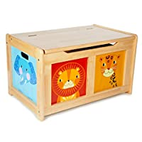 Tidlo Wooden Jungle Toy Chest - Storage