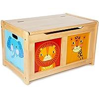 Tidlo : caja de juguetes de la selva de madera natural