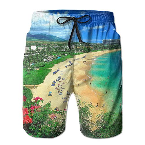 Kaanapali Beach, Maui, Hawaii (Pillow Socks Kaanapali Beach Maui Hawaii Swim Shorts Beach Trunks for Men XX-Large)