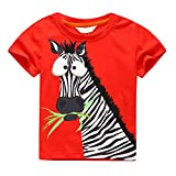 Search : SHOBDW Boys Tops, Infant Kids Big Baby Fashion Cartoon Zebra Printing Short Sleeve T-Shirt Blouse Outfits Summer Clothes