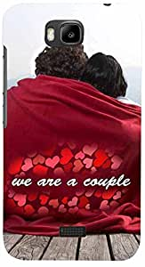 PRINTVISA Quotes Love Couple Case Cover for Huawei Honor Bee
