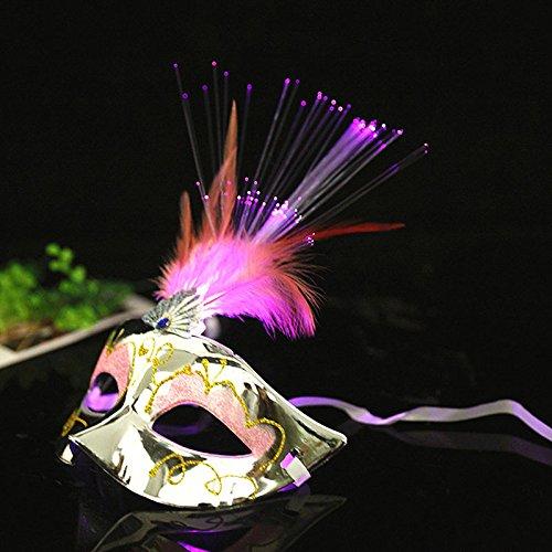 D Masken Halloween Maskerade Partei Kostüm Requisiten Damen Mädchen Prinzessin Feder Maske (Maskerade-masken Für Frauen Halloween)