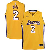 Nike NBA Los Angeles Lakers Lonzo Ball 2 2017 2018 Icon Edition Jersey Official, Camiseta de Niño