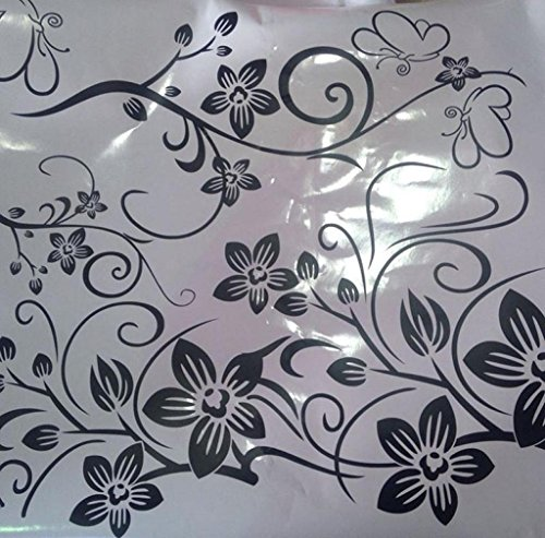 RETUROM Hee Gran Vinilo removible etiqueta de la pared Decal Mural Art - Flores y vid