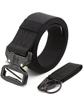 MINHER Cintura Militare in Nylon , Cinturino con Fibbia Sgancio Rapido Cobra Buckle Heavy Duty Metal