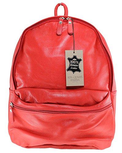 CTM en cuir unisexe sac à dos, 30x39x14cm, 100% cuir véritable Fabriqué en Italie