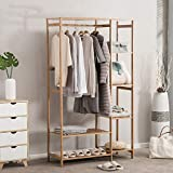 Best Coat Stand - Multifunktionsschrank Garderobe mit 1 Kleiderbügel und 5 Regalen für Schlafzimmer Wohnzimmer Eingang - Home Decor
