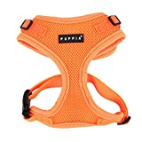 Puppia PAQA-AC1430 Hunde Geschirr, Neon Soft Harness II, small, orange