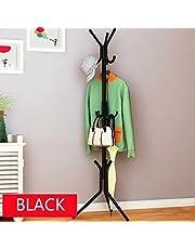 Styleys Coat Rack Hanger Creative Fashion Bedroom for Hanging Clothes Shelves, Iron Racks Standing Coat Rack (Black)