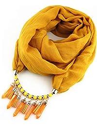 Hoverwin Bufanda Mujer, Bufanda de Color Sólido, Bufanda de algodón y Lino, Bufanda
