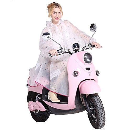 Damen Regenjacken -LATH.PIN Damen Regen Poncho mit Kapuze wasserdicht regenmantel Regenkleidung für Fahrrad-Motorrad