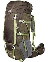 Eshow Mochilas de 60 Litros de Senderismo Nailon Hombre Mochilas de Acampada 60L Impermeable de montanismo Trekking DeportesExcursion