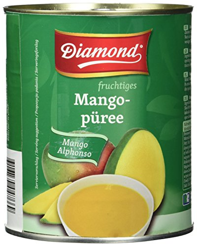 Diamond Mangopüree, Alphonso, 3er Pack (3 x 850 g Dose) -